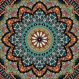 Ethnisches Stammes- Muster der abstrakten Weinlese Stockfotografie