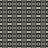 Ethnisches Stammes- Muster des nahtlosen abstrakten Vektors in einfarbigem BAC Stockbild