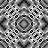Ethnisches Stammes- nahtloses Muster Geometrische dekorative Illustration Stilvolle Schwarzweiss-Beschaffenheit Stockbilder
