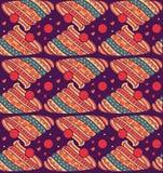 Ethnisches Textildekoratives dekoratives gestreiftes nahtloses Muster im Vektor Stockfotos