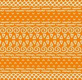Ethnisches Textildekoratives gebürtiges dekoratives gestreiftes nahtloses Muster im Vektor Farbendloser Hintergrund Stockfoto