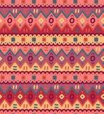 Ethnisches Textilhelles dekoratives gebürtiges dekoratives gestreiftes nahtloses Muster Lizenzfreies Stockbild
