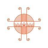 Ethno логотипа Стоковые Фотографии RF