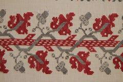 Ethno bezszwowy wzór Etniczny ukraiński ornament Plemienny sztuka druk, powtarzalny tło Tkanina projekt, tapeta Zdjęcie Stock