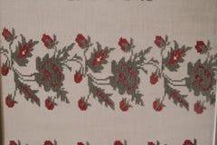 Ethno bezszwowy wzór Etniczny ukraiński ornament Plemienny sztuka druk, powtarzalny tło Tkanina projekt, tapeta Obraz Stock