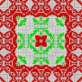 Red and green ethno canvas pattern of shape ribbons. Ethno canvas pattern of shape ribbons Stock Images