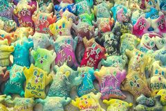 Ethno cats toys Royalty Free Stock Photo