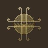 Ethno di logo su marrone Fotografia Stock