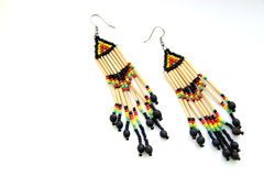 Ethno earrings Royalty Free Stock Images