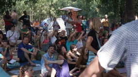 Ethno esoteric festival round dance stock video footage