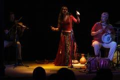 Ethno folk group Sandal stock image
