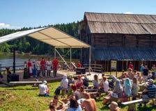 Ethno-futuristisch festival ` Kamwa ` Stock Foto's