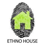Ethno house -Fingerprint. Illustration symbol ethno house like a fingerprint Stock Images