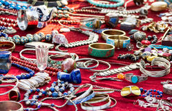 Ethno Jewelry on a Flea Market Royalty Free Stock Image