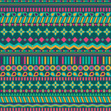 Ethno seamless pattern. Ethnic boho repeatable ornament. Tribal art background. Fabric design, wallpaper, wrapping Royalty Free Stock Photography