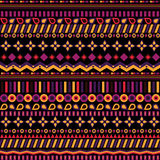 Ethno seamless pattern. Ethnic boho repeatable ornament. Tribal art background. Fabric design, wallpaper, wrapping Stock Image