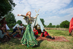 Ethno sztuki grupy Borodinsky cygan, Moskwa Fotografia Stock