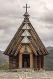 Ethno village Mecavnik, church royalty free stock photos