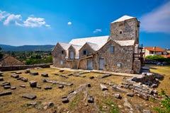 Ethno village of Skrip stone landmarks Royalty Free Stock Photography