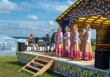 ethnographic festival Arkivbild