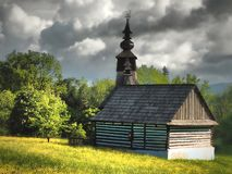 Ethnographic natural exposition - open-air museum in STARA LUBOVNA - SLOVAKIA royalty free stock image