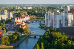 Ethnographic och handelmitt Kaliningrad arkivbild