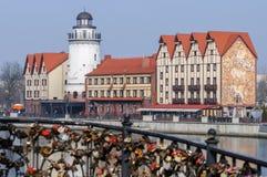 Ethnographic och handelmitt Kaliningrad royaltyfri foto