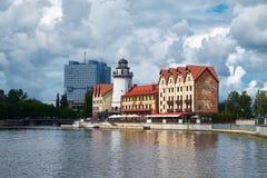 Ethnographic och handelmitt Kaliningrad royaltyfri bild