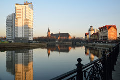 Ethnographic and trade center. Kaliningrad Stock Photo