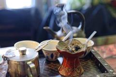 Ethopiankoffie, de koffiewinkel van Amsterdam royalty-vrije stock fotografie