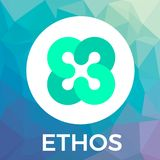 Ethos vector logo. The people-powered blockchain platform and crypto currency. Ethos vector logo. The people-powered blockchain platform and crypto currency Royalty Free Stock Photos
