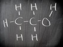 Ethylalcohol chemische formule Royalty-vrije Stock Afbeeldingen