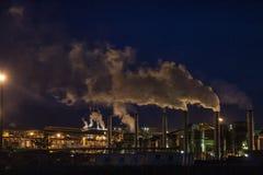 Ethylalcoholfabriek stock foto