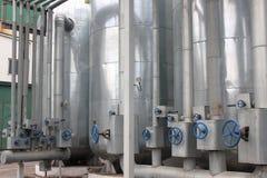 Ethylalcoholinstallatie Stock Foto's