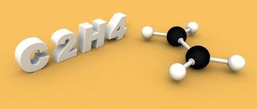 Ethylene molecule C2H4 Stock Photo