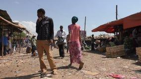 Etiópia, Bahir Dar, em janeiro de 2015, cena da rua de um mercado video estoque