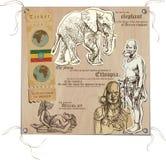 Etiópia - imagens da vida, Imagens de Stock Royalty Free