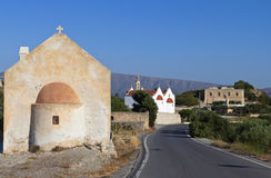 Etia traditional village at Crete island Royalty Free Stock Photo