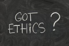 Etica ottenuta? Immagine Stock