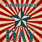 Etichetta americana Priorità bassa del grunge di indipendenza Day 4 luglio Fotografia Stock Libera da Diritti