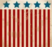 Etichetta americana Priorità bassa del grunge di indipendenza Day 4 luglio Illustrazione di Stock
