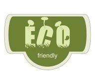 Etichetta amichevole di ECO Fotografia Stock