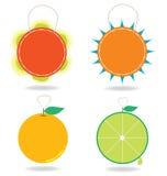 Etichetta arancio Fotografia Stock