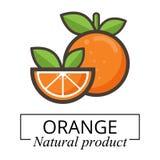 Etichetta arancio Immagine Stock Libera da Diritti