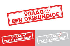 Etichetta/bollo olandesi stampabili di affari degli esperti Immagine Stock