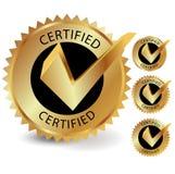 Etichetta certificata Fotografia Stock Libera da Diritti