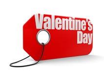 Etichetta con il San Valentino Fotografia Stock