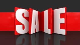 Etichetta con la vendita (percorso di ritaglio incluso) Fotografie Stock