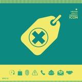 Etichetta con un incrocio medico Fotografie Stock
