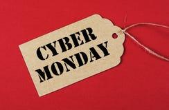 Etichetta cyber di vendita di lunedì Immagine Stock Libera da Diritti